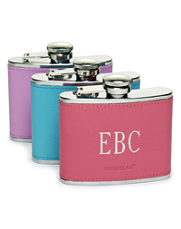 Monogrammable Flask for Women :  flask leather women gifts