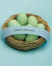 Bird Nest Favor :  nests wedding party spot shop partyspotshop