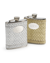 Metallic Leather Flask