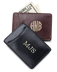 Personalizable Leather Money Clip