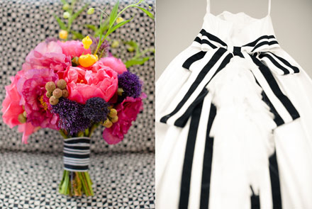 Wedding Style Idea BlackandWhite Striped Accents