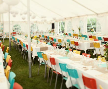 Wedding Decor Idea Mixed Colored Chairs Posted Tuesday August 31