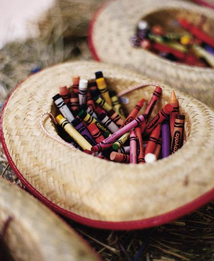 Wedding Kid Table Ideas Creative Crayon Displays