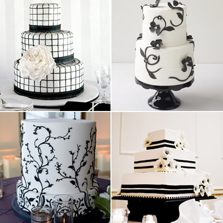 I love me some blackandwhite wedding cakes reminds me of a fun formal