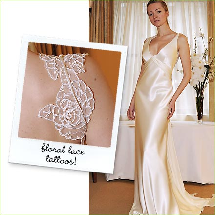 Wedding Dresses -- Floral Lace Tattoos! Posted Sunday, April 05,