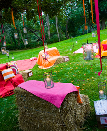 Wedding Reception Idea -- Rustic, Outdoor Lounges. Posted Wednesday, May 20,