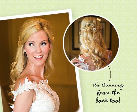 >See more than 200 wedding hairstyle pictures.
