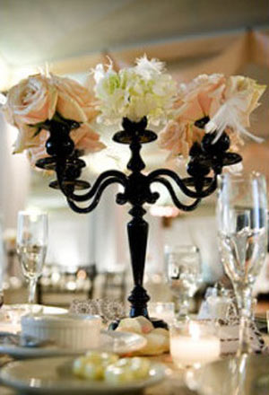 wedding centerpiece candelabra vintage shabby chic Blog 091609