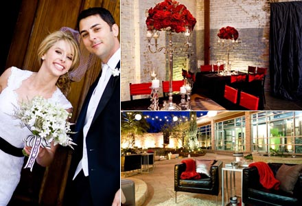 Style Ideas A ModernElegant Red and Black Wedding