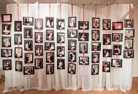 Reception Idea Create a Family Wedding Photo Wall