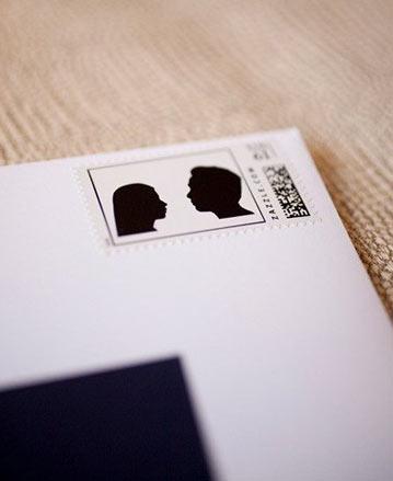Wedding Invitation Idea Custom Silhouette Wedding Stamps