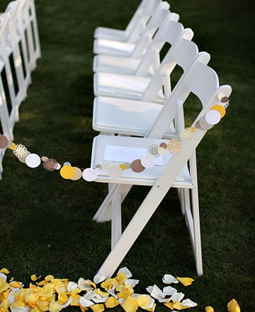 Wedding Ceremony Idea Paper Aisle Markers Posted Monday October 25