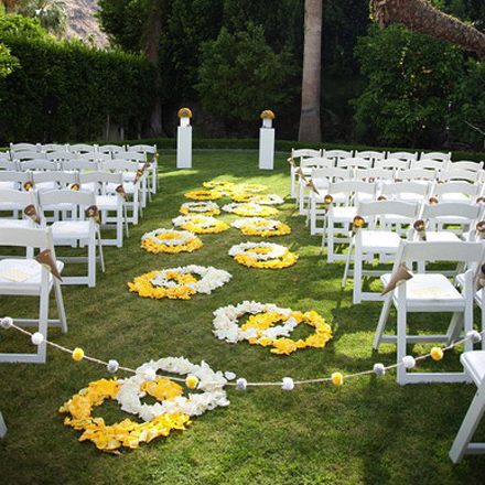 Ceremony Decor Idea Design the Aisle with Petals Posted Monday July 27