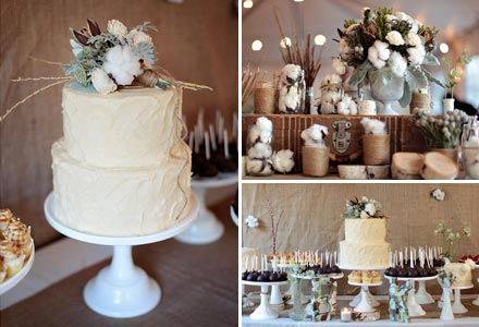 Wedding Style Idea A Cotton and Burlap Wedding