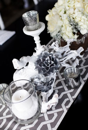 Wedding Centerpiece Idea Silver Succulents Posted Tuesday January 11