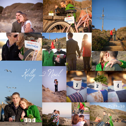 SaveTheDate Idea An Engagement Photo Collage Posted Monday January 04