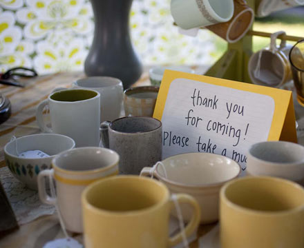 Vintage coffee mug favors