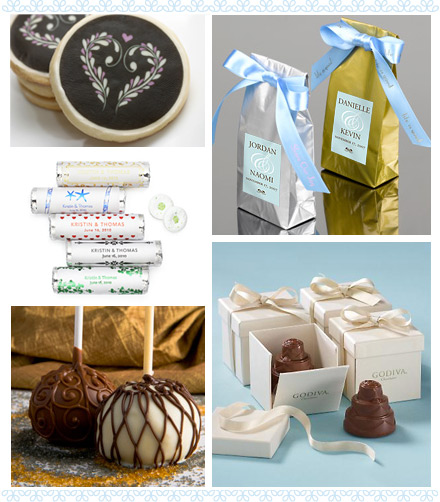 ... our favorite edible wedding favor ideas (clockwise from upper left