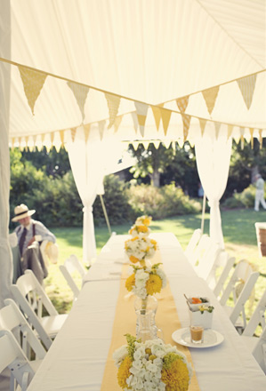 Reception Decorations Decorate with Homemade Fabric Flags