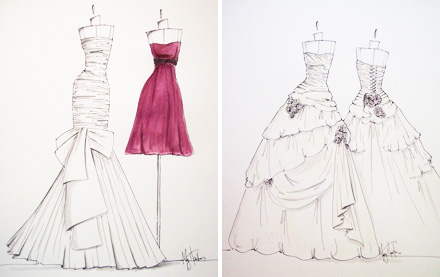 Es Sanchez: Custom Wedding Gown Sketches!